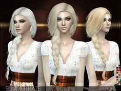 The Sims Resource: Summer Haze hairstyle by Stealthic • Sims 4 Downloads