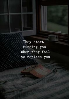 Missing You Quotes They'll start missing you if they can't replace you. # Hurtfulquotes Miss you quotes Kathrin Retthofer KathrinErpunkt ♡TRUE♡ Missing You Quotes They'll start missi Quotes Deep Feelings, Hurt Quotes, Mood Quotes, Positive Quotes, Motivational Quotes, Life Quotes, Inspirational Quotes, Regret Quotes, Woman Quotes