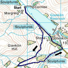 Great walking guide. This one is Glenkiln sculpture trail in Dumfries & Galloway