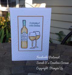 Half Full, Stampin' Up, Handmade Cards, Sarah B's Creative Corner