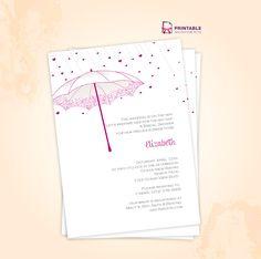 Umbrella Bridal Shower Invite