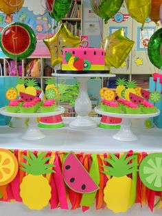 64 ideas for fruit party birthday Watermelon Birthday Parties, Fruit Birthday, Second Birthday Ideas, Girls Birthday Party Themes, Girl 2nd Birthday, Fruit Party, First Birthday Parties, Summer Party Decorations, Birthday Party Decorations