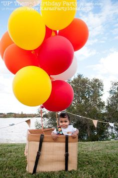 """UP"" themed 1st birthday party! Love this! Via Kara's Party Ideas   KarasPartyIdeas.com"