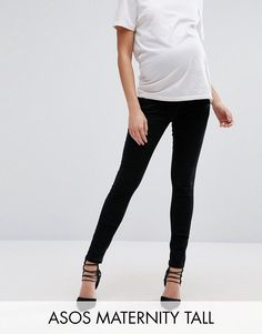 Get this Asos Maternity's skinny jeans now! Click for more details. Worldwide shipping. ASOS MATERNITY TALL Ridley Skinny Jean In Clean Black With Over The Bump Waistband - Black: Maternity Tall Ridley ultra skinny jeans by ASOS Maternity Tall, Super soft high-stretch denim, Stretch added for comfort and fit, High rise, Button fastening, Over-the-bump stretch jersey waistband to support your growing bump, Skinny fit - cut closely to the body, Designed to fit through all stages of pregnancy…