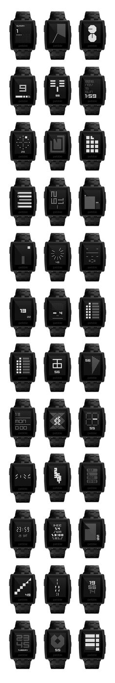 TTMM watchface collection for Pebble. https://itunes.apple.com/us/app/ttmm-watchfaces-for-pebble/id694623195