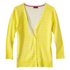 Merona® Petites 3/4-Sleeve Cardigan Sweater- Assorted Prints ...