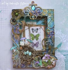 Such a Pretty Mess: Mixed Media Art Canvas {Bo Bunny Mood Board}