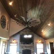 "Laurel Foundry Modern Farmhouse 72"" Haywood Windmill 15 Blade Ceiling Fan & Reviews   Wayfair"