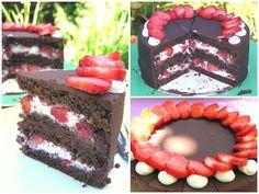 Tortentantes Tortenwelt - DER Tortenblog mit Anleitungen und Tipps für Motivtorten: Erdbeer-Schokoladen-Torte - eine leckere Kombination