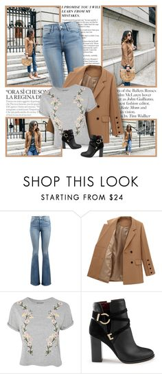 """""""Christy"""" by ellawine ❤ liked on Polyvore featuring Frame, Topshop and Miss Selfridge"""