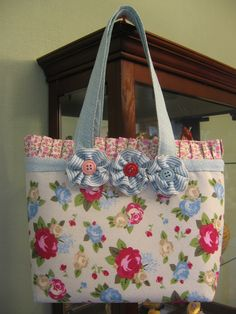 Purses I am making with Stampin' Up! fabric or fabrics of your choosing.