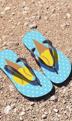 b37d0d49842c3 These softball flip flops are a great way to gear up for