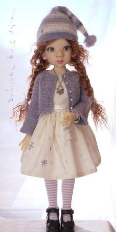 """Winter Snowflakes"" is made for Kaye Wiggs Talyssa & Mei Mei BJD dolls by cindyricedesigns.com"