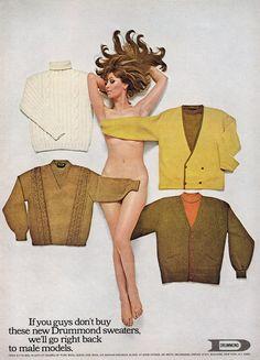 Vintage Men's Fashion Ad.  Ha clever
