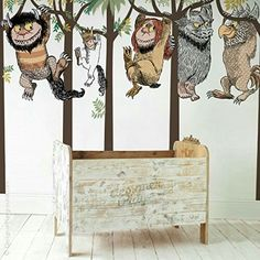 let the wild rumpus start, where the wild things are wall decals for children offers the complete collection of wall decals from the story book. Designed to create a room with full size mural for nursery, kids room, playroom and classroom. Wall Decals For Bedroom, Vinyl Wall Decals, Birch Tree Wall Decal, Wall Stickers Wallpaper, Baby Room Art, Nursery Room, Awesome Bedrooms, Baby Boy Nurseries, Playroom
