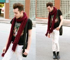 Burgundy Accent. (by Michael Sedgwick) http://lookbook.nu/look/4532311-Burgundy-Accent