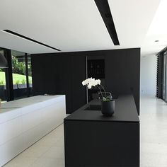 Black and White Minimal Kitchen