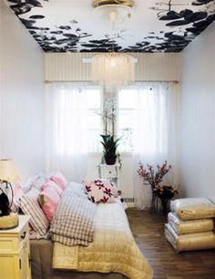White and Black Wallpaper, Modern Interior Decorating Ideas
