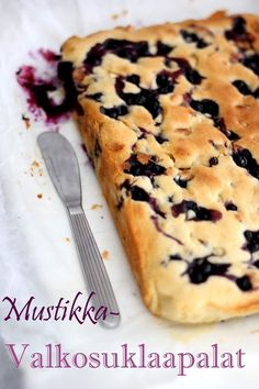 Pullahiiren leivontanurkka: Mustikka-valkosuklaapalat Baking Recipes, Cake Recipes, Yummy Treats, Yummy Food, Delicious Recipes, Sweet Bakery, Sweet Pie, No Bake Desserts, Let Them Eat Cake