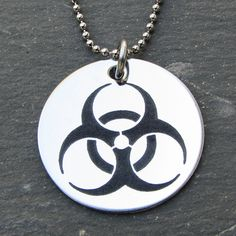 Biohazard Pendant - This would be awesome to go with a zombie costume for Halloween