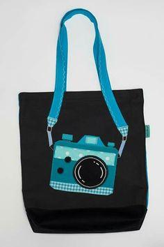Blue camera bag by Jolinda
