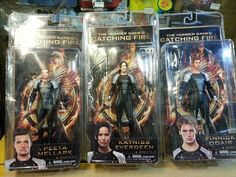 Photo: 'Catching Fire' Action Figures for Katniss, Peeta & Finnick - I sooo want these!