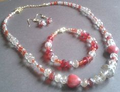 Bring on the bling!  Sparkle necklace, earrings & bracelet set only £18.50 plus p&p at www.stonesdacrescissors.co.uk