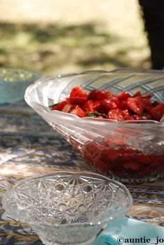salade fraise sirop basilic
