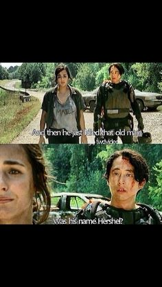 Glenn finds out about Hershel! :(