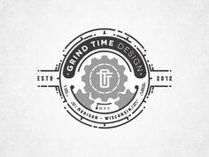via dribble: Grind-gif logo by joe white (yeoldestudio.co.uk)  very clever design.