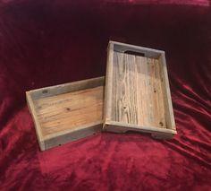 Rustic Reclaimed wood medium serving tray by AmbroseCraftsStore on Etsy https://www.etsy.com/listing/482030467/rustic-reclaimed-wood-medium-serving