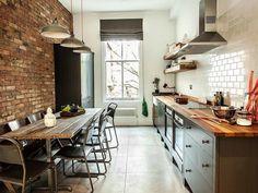 кухня с кирпичным фартуком - Поиск в Google