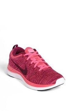 c4168719a487a1 Nike  flyknit Lunar1+  Running Shoe (women) Pink Flash  Raspberry Red