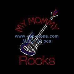 Best Selling Products Guitar Music Rhinestone Motif