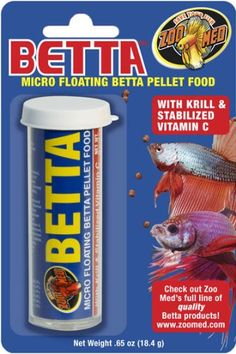 I like the convenience of this food in my auto feeder but my bettas don't really like it.  My bettas (2 tanks) both are finiky.  They wont eat the food if it falls through the water. They just don't really like the food much but will eat it over nothing at all.