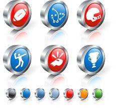 football 3D royalty free vector icon set royalty free vector vector art illustration