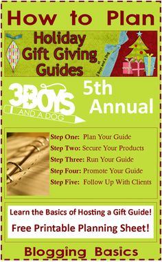 Blogging Basics: Holiday Gift Guide How To - How to run from planning to followup #learntoblog