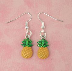 Pineapple Tiki Earrings - Pin Up - Bombshell - Tropical Hawaiian - Kitsch - Rockabilly - Retro - 50's by PlayBox on Etsy