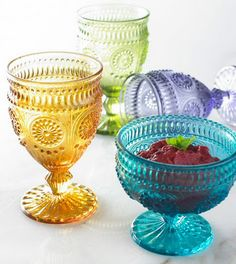 LOVE this vintage glassware - would be perfect for little princess parties!