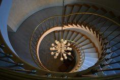 Spiral staircase at Sigma Kappa of UW