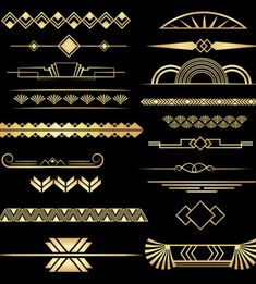 Art Deco Dividers Black and Gold, 20 PNGs, Commercial Use - # Check more at ar. - Art Deco Dividers Black and Gold, 20 PNGs, Commercial Use – # Check more at artdeko. A digital Marketing and advertising Defined Wallpaper Art Deco, Art Deco Artwork, Deco House, Interiores Art Deco, Art Nouveau, Moda Art Deco, Tatoo Art, Art Deco Tattoo, Art Deco Borders