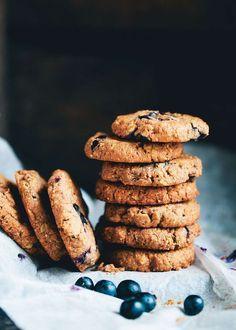 Almond Butter Blueberry Cookies, (Vegan, Gluten-Free)