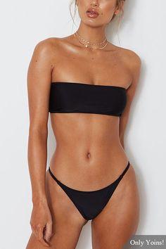 Black Sexy Off Shoulder Bodycon Fit Swimwear