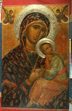 I Love these ( Our Lady of Perpetual Help type photos ) The Jesus looks like a little Man in them. Byzantine Icons, Byzantine Art, Verge, Mama Mary, Madonna And Child, Orthodox Icons, Mother Mary, Sacred Art, Religious Art