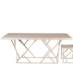 Light and airy design don't mean weak and flimsy with the criss-cross dining table large. This future icon is as solid as they come boasting a rock-solid steel frame base, all-steel construction top, and timeless design, ensuring a lifetime of dining use and outstanding durability.