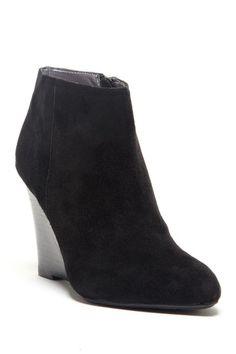 Black Ankle Wedge