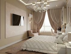 Bedroom Lighting Apartment Curtains 25 New Ideas Modern Luxury Bedroom, Luxury Bedroom Design, Master Bedroom Interior, Room Design Bedroom, Bedroom Furniture Design, Home Room Design, Luxurious Bedrooms, Home Decor Bedroom, Dream Rooms