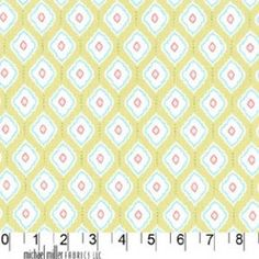 1/4m Bella Butterfly  Green Medallions  Michael by PlanetFabric, $4.50