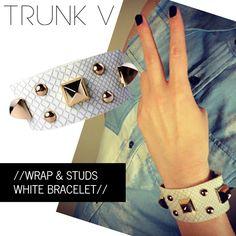 White Wrap & Studs bracelet  www.trunkv.com