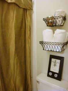 Baskets for extra towels @ Hobby Lobby - I think I like these better than the other basket idea I pinned